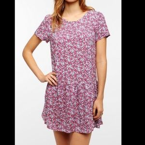 Urban outfitters flowered mini dress size M